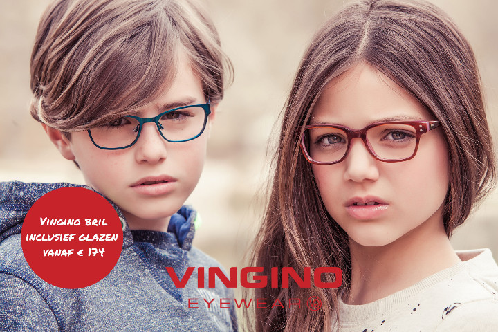 Jongen en meisje met kinderbril